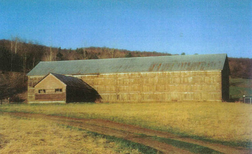 Tobacco Barn in Lindley, New York.  Photo by Catherine Pierce.